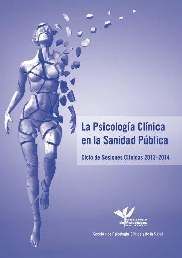 La Psicología Clínica en la Sanidad Pública - Colegio Oficial de ...