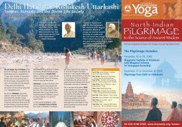 North Indian PiLGRiMAGE - Sivananda Yoga