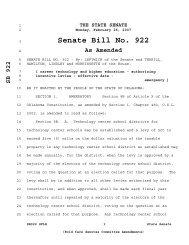 Senate Bill No. 922 - Oklahoma Legislature