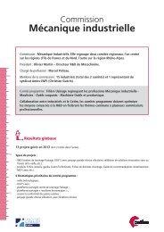 Fiche Commission Mécanique Industrielle - Juin 2013 (285 ... - Cetim