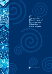 2011 Tracking the Effectiveness of Development Efforts in the ...