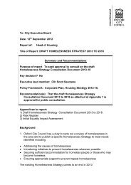 Homelessness Strategy report PDF 94 KB - Oxford City Council