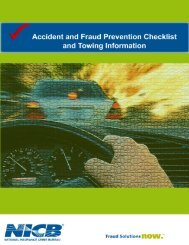 Accident and Fraud Prevention Checklist