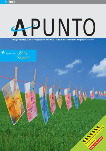 Apunto 5/2010 - Angestellte Schweiz