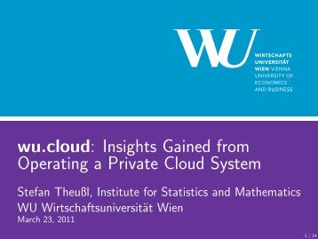wu.cloud - Institute for Statistics and Mathematics ...