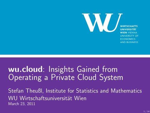 wu.cloud - Institute for Statistics and Mathematics ...