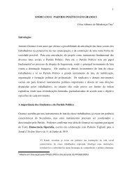 sindicato e partido político em gramsci - Rede de Estudos do Trabalho