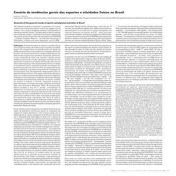 Cenário de tendências gerais dos esportes e atividades - Atlas do ...