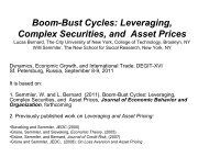 Boom-Bust Cycles: Leveraging, Complex Securities, and Asset Prices
