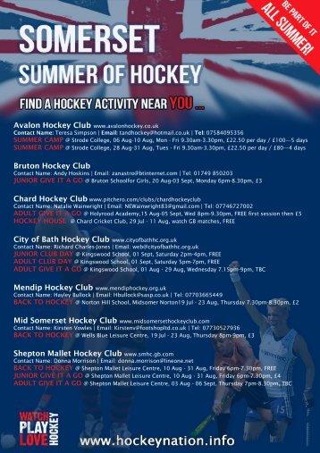Somerset Summer of Hockey - Zing Somerset