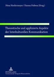Theoretische und applizierte Aspekte der Interkulturellen - Peter Lang