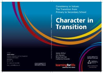 Character in Transition - University of Birmingham