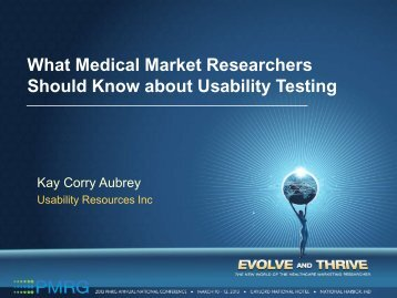 What Medical Market Researchers Should Know about ... - PMRG