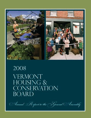 Annual Report to the General Assembly - Vermont Housing and ...