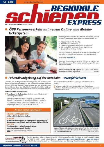 und Mobile- Ticketsystem Fahrradkundgebung auf der Autobahn