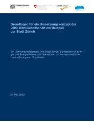 Grundlagen für ein Umsetzungskonzept der 2000-Watt-Gesellschaft ...