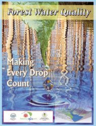 Making Every Drop Count - NC Forest Service