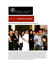 Privy Magazine: Featuring Jeannie Cho Lee MW - Asian Palate