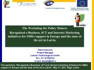 "The workshop ""Recognized e-Business, ICT and internet ... - EVITA"