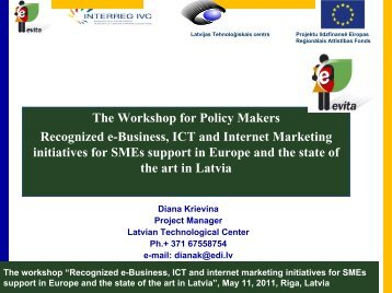 """The workshop """"Recognized e-Business, ICT and internet ... - EVITA"""