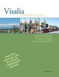 GPURC Recommended Policies - Visalia General Plan Update