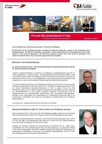 Newsletter 03/ 2013 - Private Berufsakademie Fulda