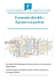 FGF rapport jeunes economie durable
