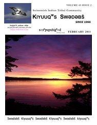 Volume 65 issue 2, February 2011 - Swinomish Indian Tribal ...