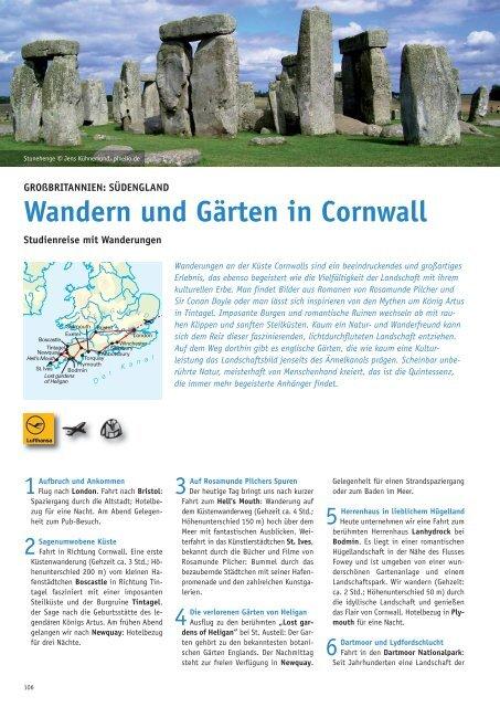 Wandern und Gärten in Cornwall - Biblische Reisen