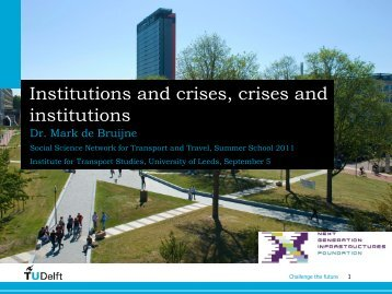 Missie en Visie TU Delft - Institute for Transport Studies - University ...