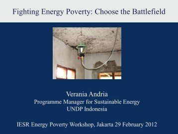 Fighting Energy Poverty: Choose the Battlefield - IESR Indonesia