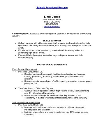 Sample Functional Resume Andrea Santos C