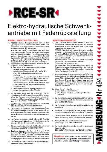 Betriebsanleitung - Wagner Armaturen