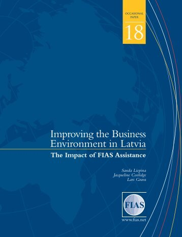 Improving the Business Environment in Latvia - Investment Climate