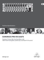 EURORACK PRO RX1202FX - L'EASY Business
