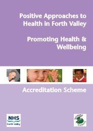 Health Promoting Schools - NHS Forth Valley