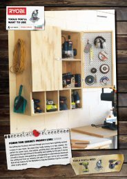 POWER TOOL CABINET: PROJECT LEVEL SILVER TOOLS ... - Ryobi