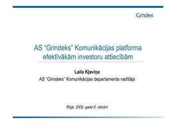 Komunikācijas platforma efektīvākām investoru attiecībām - Grindeks