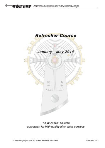 Refresher Course.pdf - WOSTEP