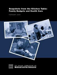 Snapshots From the Kitchen Table: Family Budgets and Health Care ...