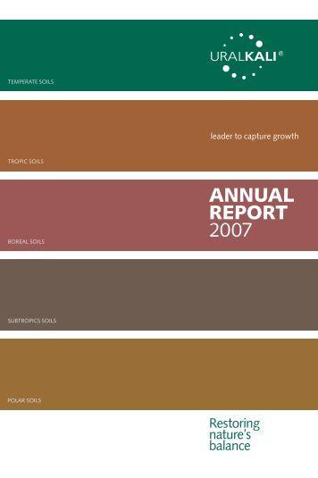 ANNUAL REPORT 2007 - Uralkali