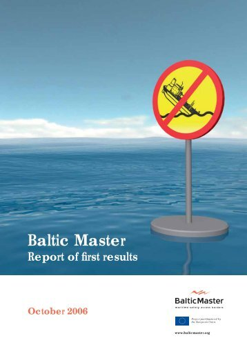Baltic Master report of first results (492 kB)