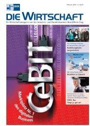 Die Wirtschaft Februar 2009 - Industrie- und Handelskammer Bonn ...