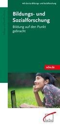 Bildungs- und Sozial forschung - W. Bertelsmann Verlag