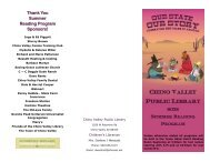 2012 Summer Reading Program - Town of Chino Valley