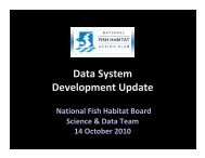 Data Team Update.pdf - National Fish Habitat Partnership