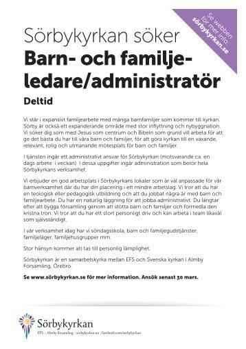Barnpastor A4.indd - EFS Mittsverige