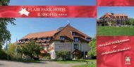 Imagebroschüre zum download - Flair Park-Hotel Ilshofen