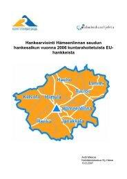 hankkeista - Kehittämiskeskus Oy Häme