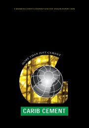 Caribbean cement company limited annual report 2008 - TCL Group
